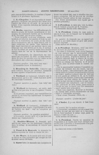 Tome 24 : Du 10 mars au 12 avril 1791 - page 50