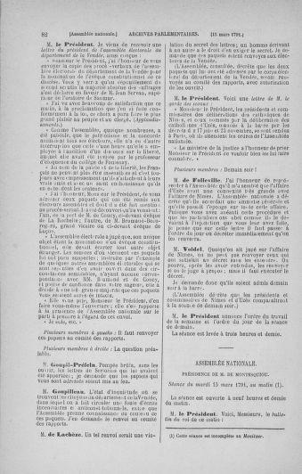 Tome 24 : Du 10 mars au 12 avril 1791 - page 82