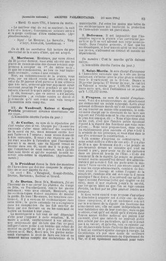 Tome 24 : Du 10 mars au 12 avril 1791 - page 83