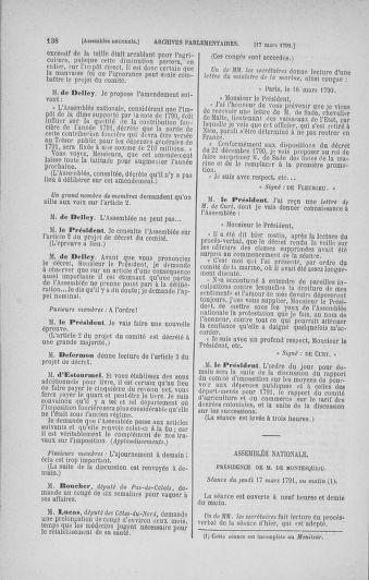 Tome 24 : Du 10 mars au 12 avril 1791 - page 138