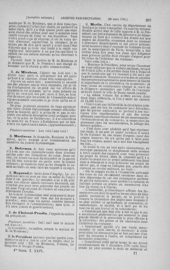 Tome 24 : Du 10 mars au 12 avril 1791 - page 257