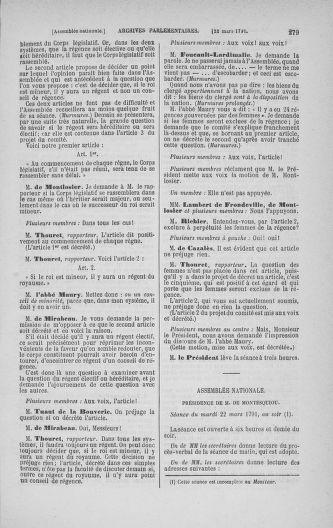 Tome 24 : Du 10 mars au 12 avril 1791 - page 279
