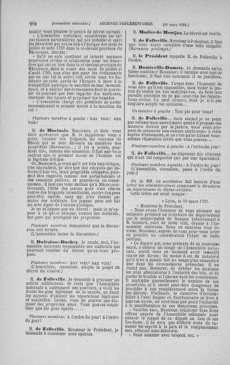 Tome 24 : Du 10 mars au 12 avril 1791 - page 288