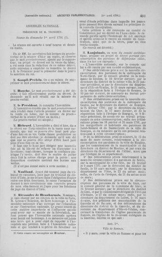 Tome 24 : Du 10 mars au 12 avril 1791 - page 493