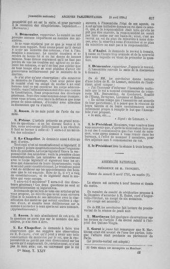 Tome 24 : Du 10 mars au 12 avril 1791 - page 657