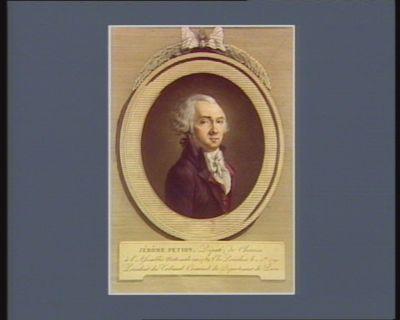 Jérome Petion, député de Chartres à l'Assemblée nationale élu président le 4 X.bre 1790, président du tribunal criminel du département de Paris : [estampe]