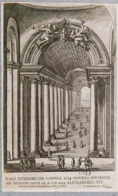 Scala inferiore che conduce alla Cappella Pontificia nel Vaticano