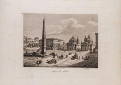Piazza del Popolo, veduta verso il Corso