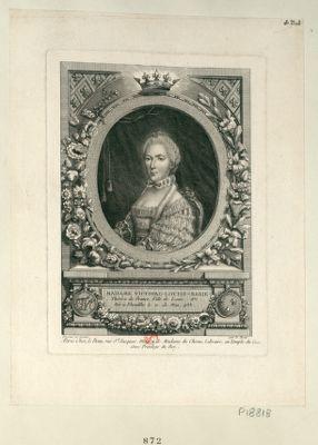 Madame Victoire-Louise-Marie-Thérèse de France fille de Louis XV née à Versailles le 11 de mai, 1733 : [estampe]