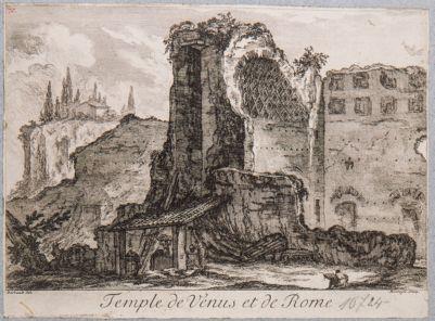 Tempio di Venere e Roma, visto dalla Via Sacra