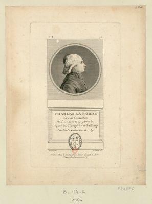 Charles La Borde cure de Corneillan né à Condom le 19 9.bre 1737 député du clergé de ce bailliage aux Etats généraux de 1789 : [estampe]