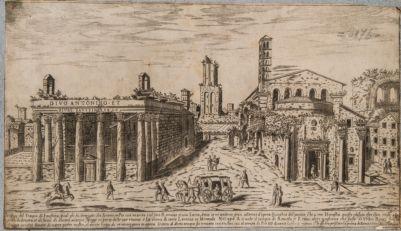 Tempio di Antonino e Faustina, prospetto sul Foro