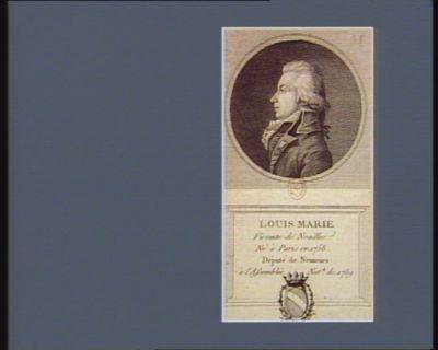 Louis Marie vicomte de Noailles né à Paris en 1758. Député de Nemours à l'Assemblée nat.le de 1789 : [estampe]