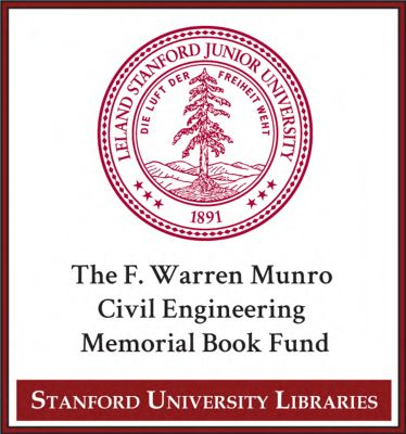 The F. Warren Munro Civil Engineering Memorial Book Fund
