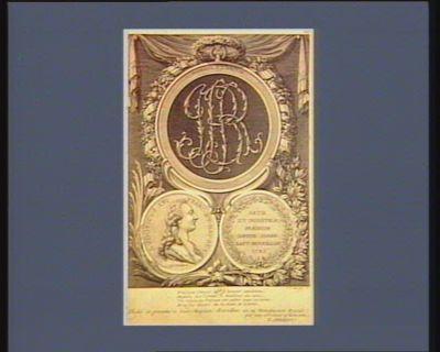 Homage à l'amitié Ludovicus XVI Franc. et Nav. rex : tis et industriae praemium datum Joann. Bapt. Reveillon 1785 : [estampe]