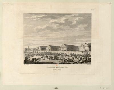 Pillage de l'Arcenal de Lyon le 7 février 1790 : [estampe]