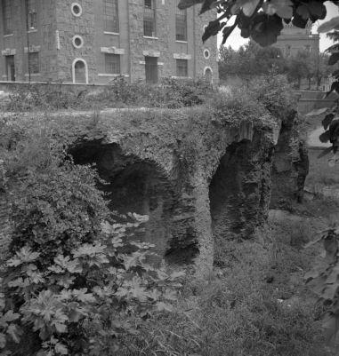 Baths of Helena, front side of the cisterns on Via Eleniana
