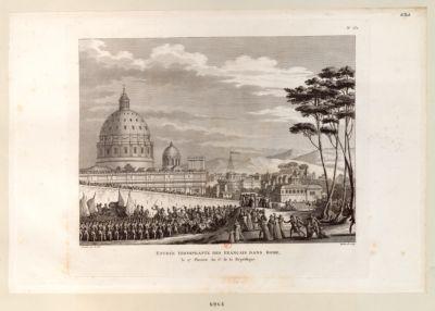 Entrée triomphante des Français dans Rome le 27 pluviose an 6.<em>e</em> de la République : [estampe]