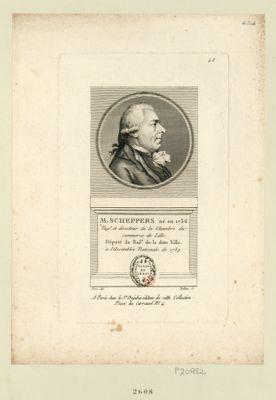 M. Scheppers né en 1736 neg.t et directeur de la chambre du commerce de Lille député du bail.e de la ditte ville à l'Assemblée nationale de 1789 : [estampe]