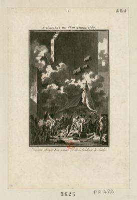 Événement du 13 decembre 1789 vengeance affreuse d'un nommé Billon, horloger, à Senlis : [estampe]