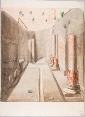 Palatino, resti di atrio nella già Vigna Ronconi