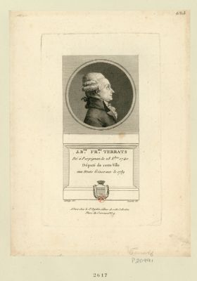 Jos.ph Fr.ois Terrats né à Perpignan le 28 8.bre 1740 député de cette ville aux Etats géneraux de 1789 : [estampe]