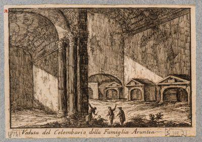 Colombario della famiglia Aruntia, veduta dell'interno