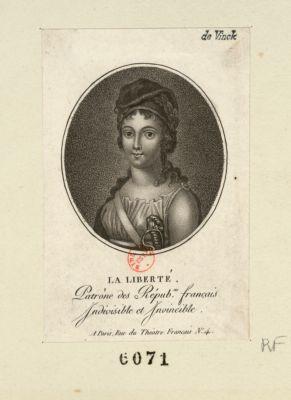 La  Liberté patrone des répub.ns français indivisible et invincible : [estampe]