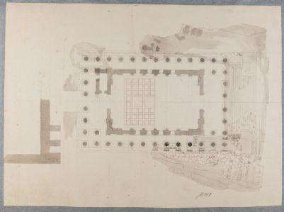 Tempio di Castore e Polluce, dettaglio pianta
