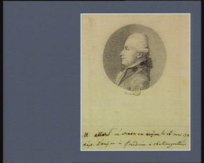 M. Allard médecin à Chateau Gontier né [à] Craon dép. d'Anjou : [dessin]