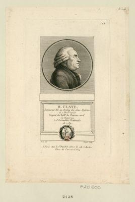 <em>R</em>. Claye laboureur, né au Boulay les deux Eglises le 7 dec.bre 1735 député du baill.e de Chateau-Neuf eu [sic] Thimerais à l'Assemblée nationale de 1789 : [estampe]