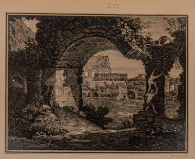 Colosseo, interno. Particolare visto da un'arcata