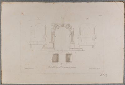 Arco di Tito, rilievo architettonico con sezione e pianta