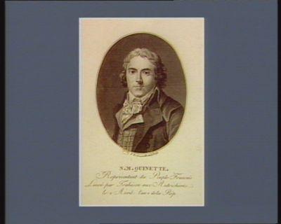 N.M. Quinette représentant du peuple français livré par trahison aux Autrichiens le 2 avril l'an 2 de la Rép. : [estampe]