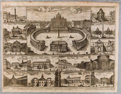 Disegno delle fabbriche, prospettive e piazze fatte nuovamente in Roma