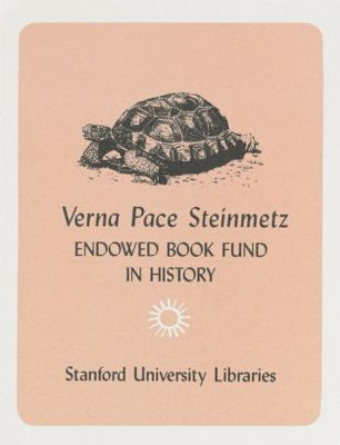 Verna Pace Steinmetz Endowed Book Fund in History