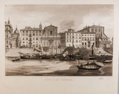 Porto di Ripetta, veduta generale del Porto dal Tevere