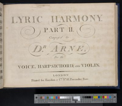 Lyric harmony : for the voice, harpsichord, and violin. Part I[-II]