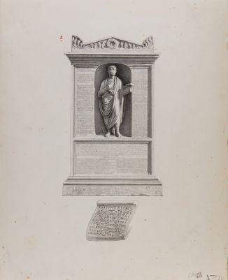 Porta Salaria, cippo del sepolcro di Sulpicio