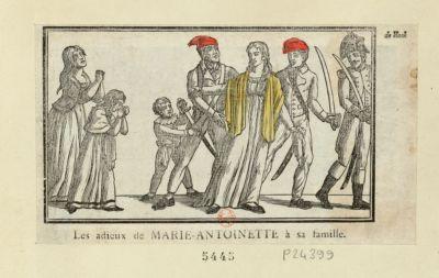 Les  adieux de Marie-Antoinette à sa famille [estampe]