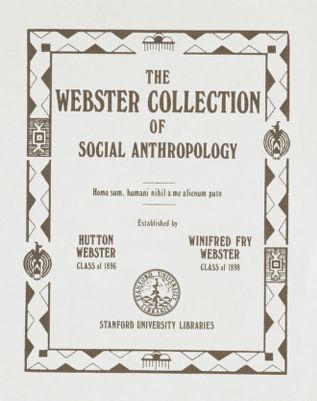 Webster Collection of Social Anthropology