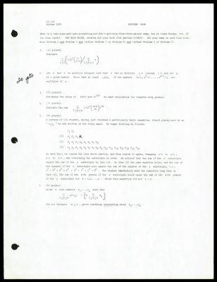 CS 155 1974 - Midterm Exam