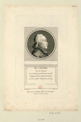 M. Cousin cure de Cucuron né à Cadenet en Provence en 1736 député d'Aix même province à l'Assemblée nationale de 1789 : [estampe]