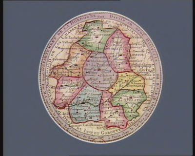 Departement de la Dordogne divise en neuf districts : [estampe]