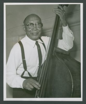 George 'Pops' Foster with bass