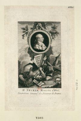 M. Necker, ministre d'Etat, contrôleur géneral des finances de France [estampe]