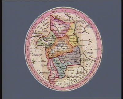 Departement du Cher divisé en sept districts : [estampe]