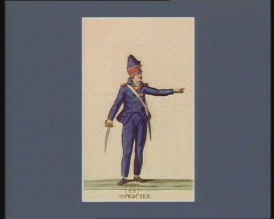 Officier des Elèves de la patrie (ci-devant appelé Enfans de la Pitié de Paris) sous leurs nouveaux costume en 1793 (v.s. ) : [estampe]