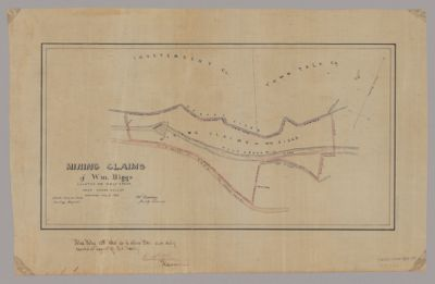 Map Of Nevada County, California. Compiled From The Latest Authentic ...