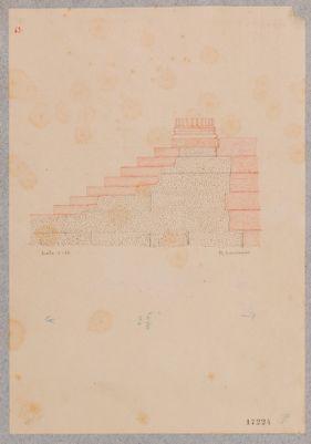 Tempio cosidetto di Vesta, particolare della struttura del podio
